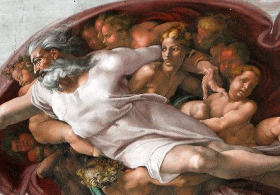 アダムの創造:ミケランジェロ「...